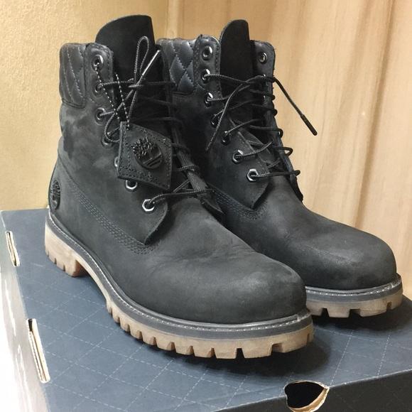 "9676407d984 Timberland 6"" Premium Black boots size 8"